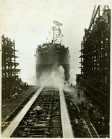 Launching of the S.S. Agawam at Gloucester, N.J. shipyard