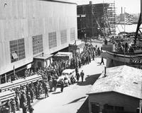 Pusey and Jones shipyard employees attend war bond rally
