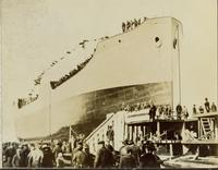 Launching of USS John M. Connelly at Gloucester, N.J. shipyard