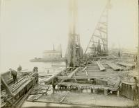 Construction of south ways at Gloucester, N.J. shipyard