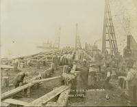Construction of south side long pier at Gloucester, N.J. shipyard