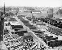 Steel inventory yard at Pusey and Jones shipyard