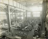 Fabrication building interior at Gloucester, N.J. shipyard