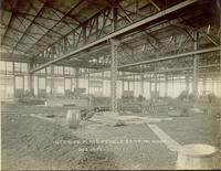 Construction of plate and angle shop interior at Gloucester, N.J. shipyard