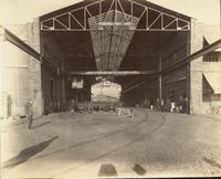 Laying out shop at Gloucester, N.J. shipyard