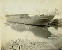 S.S. Castle Town outfitting at Gloucester, N.J. shipyard