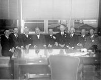 Pusey and Jones executives in board room during christening and launching of Cape Bon #1089