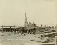 Construction of pier head at Gloucester, N.J. shipyard