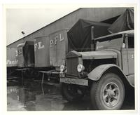 Pacific Freight Lines delivery trucks