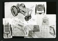 Sketches for designs for Cockshutt tractors
