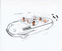 Comic automobile drawing - The Blister 6