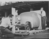Studebaker development - construction of clay mock-up