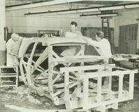 Studebaker development - building frame for full-size clay mock-up