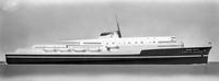 Raymond Loewy proposed design for Gulf Atlantic Transportation Company's 'Carib Queen.'