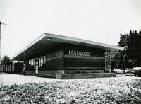 Shelter at Pennsylvania station at Edgewood, Maryland designed by Raymond Loewy