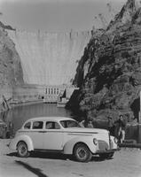 1940 Studebaker President in gorge near dam