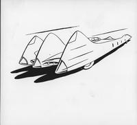 Comic automobile design drawing