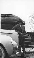 New York World's Fair - Raymond Loewy with 1939 Studebaker and Pennsylvania 1937 S-1 Locomotive
