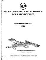 Annual Report, RCA Laboratories Research Department [1964]
