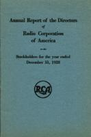Annual Report of the Directors of Radio Corporation of America to the Stockholders for the Year Ended December 31, 1928