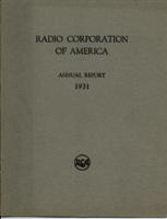 Radio Corporation of America Annual Report for the Year 1931