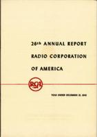26th Annual Report Radio Corporation of America Year Ended December 31, 1945