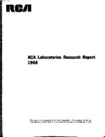 Annual Report, RCA Laboratories Research Department [1968]
