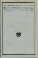 Seventeenth Annual Report of Radio Corporation of America Year Ended December 31, 1936