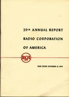 25th Annual Report Radio Corporation of America Year Ended December 31, 1944