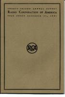 Twenty-second Annual Report of Radio Corporation of America Year Ended December 31, 1941