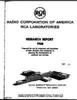 Annual Report, RCA Laboratories Research Department [1958]