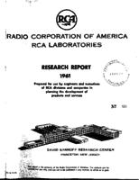 Annual Report, RCA Laboratories Research Department [1961]