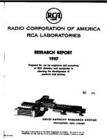 Annual Report, RCA Laboratories Research Department [1957]