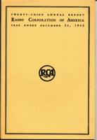 Twenty-third Annual Report of Radio Corporation of America Year Ended December 31, 1942