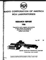 Annual Report, RCA Laboratories Research Department [1956]