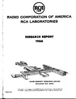 Annual Report, RCA Laboratories Research Department [1966]