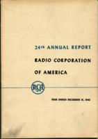 24th Annual Report Radio Corporation of America Year Ended December 31, 1943