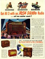 Get All 3 With an RCA Victor Radio at No Extra Cost!