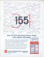 Just 34 RCA Silverama Picture Tubes Now Replace 155 Types!