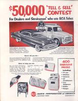 $50,000 'Tell and Sell' Contest for Dealers and Servicemen Who Use RCA Tubes