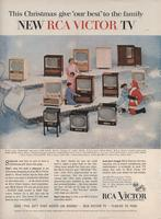 This Christmas Give 'Our Best' to the Family: New RCA Victor TV