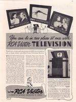 You Can Be in Two Places at Once with RCA Victor Television