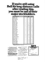 If you're still using Bell for long distance calls'u2026' MCI print advertisement