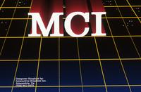 MCI red logo on grid