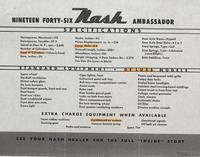 Nineteen Forty-Six Nash Ambassador Specifications
