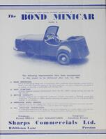 Preliminary Leaflet Giving Abridged Specification of the Bond Minicar (Mark B)