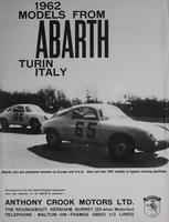 1962 Models from Abarth Turin, Italy