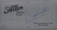 Allen Motor Cars : the Complete Line Illustrated