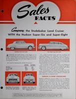 Sales Facts : Compare the Studebaker Land Cruiser with the Hudson Super-Six and Super-Eight