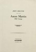 John Bolster Tests the Aston DB6 Vantage
